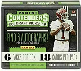2019 Panini Contenders Draft Picks Football HOBBY box (6 pks/bx, SIX Autograph cards)