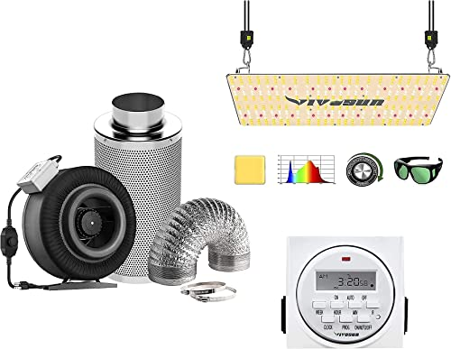 wholesale VIVOSUN 8 Inch 740 CFM Inline Fan Package, popular with VS2000 LED Grow Light and 7 Day Programmable Digital Timer, Samsung LM301H Diodes & Brand online sale Driver online