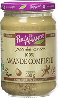 PERL'AMANDE Purée Cure 100% Amande Complète, Bio, 300 g