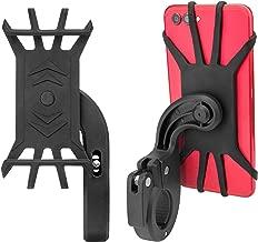 Bike Phone Mount 2Pack, Bicycle Handlebar Adjustable Universal iPhone Holder