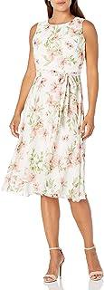Jessica Howard womens Petite Sleeveless Pleated Dress Casual Dress