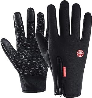 AILEESE Anti-d/érapant Moto Hiver Chaud Sports de Plein Air Randonn/ée Cyclisme Hommes Femmes Plein Doigt Tactile Gants
