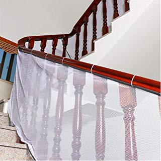 Banister Guard, Safe Rail, Deck Balcony & Stairway Safety Net for Indoor and Outdoor 10ft L x 2.5ft H - Baby Proofing, Child Safety, Stair Railing Net; Pet; Toy; Protector