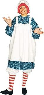 UHC Women's Raggedy Ann Rag Doll Theme Party Fancy Dress Halloween Costume