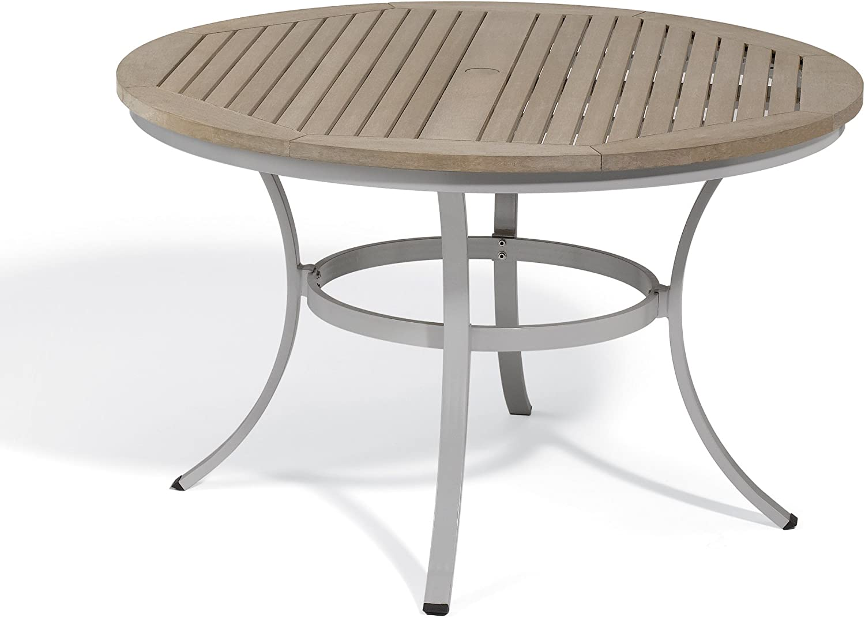 Amazon.com  Oxford Garden Travira Round Dining Table Tekwood, 9 ...