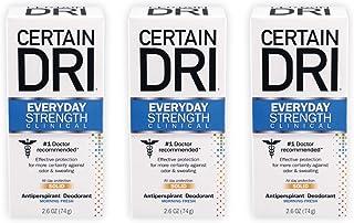 Certain Dri Everyday Strength Clinical Antiperspirant Deodorant, 2.6 Oz (Pack of 3)
