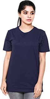 EASY 2 WEAR ® Women T-Shirts (Sizes S to 4XL) Loose and Long Fit - Navy Blue
