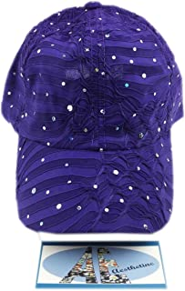 aesthetinc Rhinestone Glitter Sequin Baseball Cap Hat Adjustable