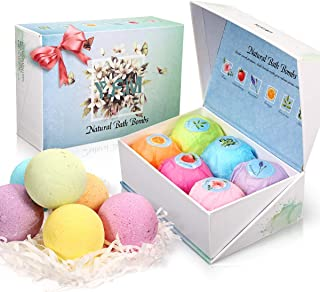 Bath Bombs Gift Set, Mothers Day Gifts - Perfect for Bubble & Spa Bath Handmade with all Natural Ingredients - Perfect Gift for Mothers Day