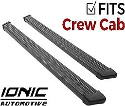 Ionic 61 Series Black Running Boards 2014-2018 Chevy Silverado GMC Sierra Crew Cab
