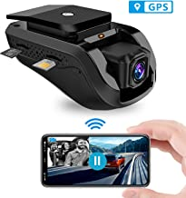 Dual Dash Cam, Toptellite 3G WiFi Dash Camera JC100 Remote Live Video for Car 1080P Night Vision Front and Inward Camera with Built-In GPS, G-sensor, Loop Recording, Vibration Alarm- Free 16GB TF Card