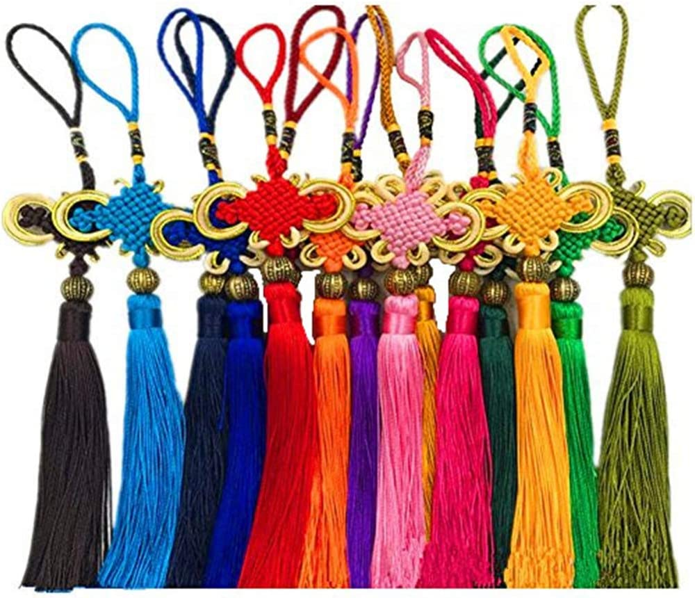 10pcs Chinese Knot Silky Regular dealer Floss Satin Knots Sil with Gold NEW before selling