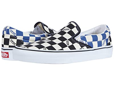 Vans Classic Slip-Ontm ((Big Check) Black/Navy) Skate Shoes