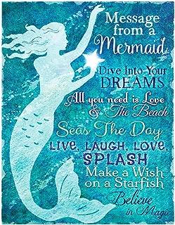 OHIO WHOLESALE, INC. Lighted Mermaid Canvas Message