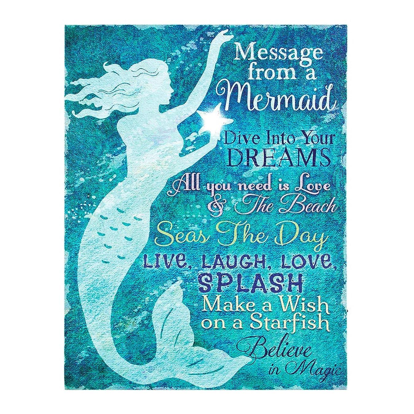 Lighted Mermaid Canvas Message