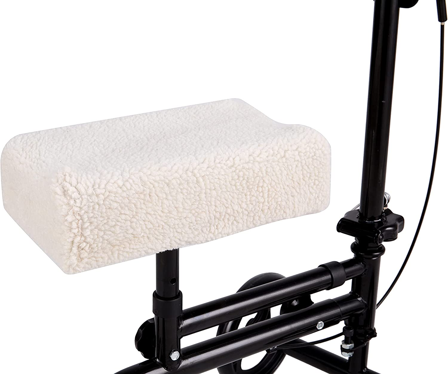 BlessReach Knee Walker Pad Cover Sheepskin - NEW before selling Manufacturer regenerated product Plush Cus Synthetic