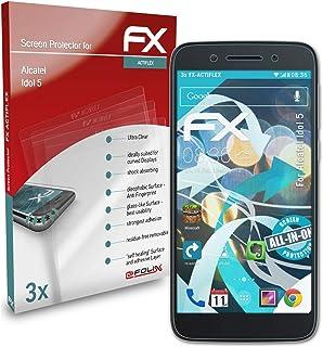 atFoliX Skärmskydd är kompatibel med Alcatel Idol 5 Film, ultraklart och flexibelt FX Skärmskyddsfilm (3X)