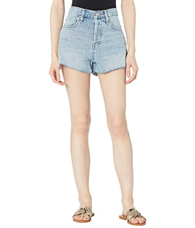 Hudson Jeans Lori High-Rise Cutoffs Shorts in Mirrors