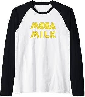 Mega Milk Anime Meme Funny Manga Otaku Hentai Cosplay Gift Raglan Baseball Tee