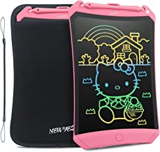 NEWYES LCD Writing Tablet 2019 Improved Colorful Screen 8.5 Inch Electronic Writing Board Doodle and Scribble Notepad Erasable Magnetic Drawing Memo with Case and Lanyard Gift for Kid & Adults