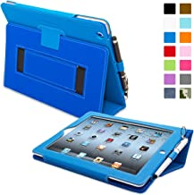 Snugg iPad 2 Case - Smart Cover with Kick Stand & (Electric Blue Leather) for Apple iPad 2