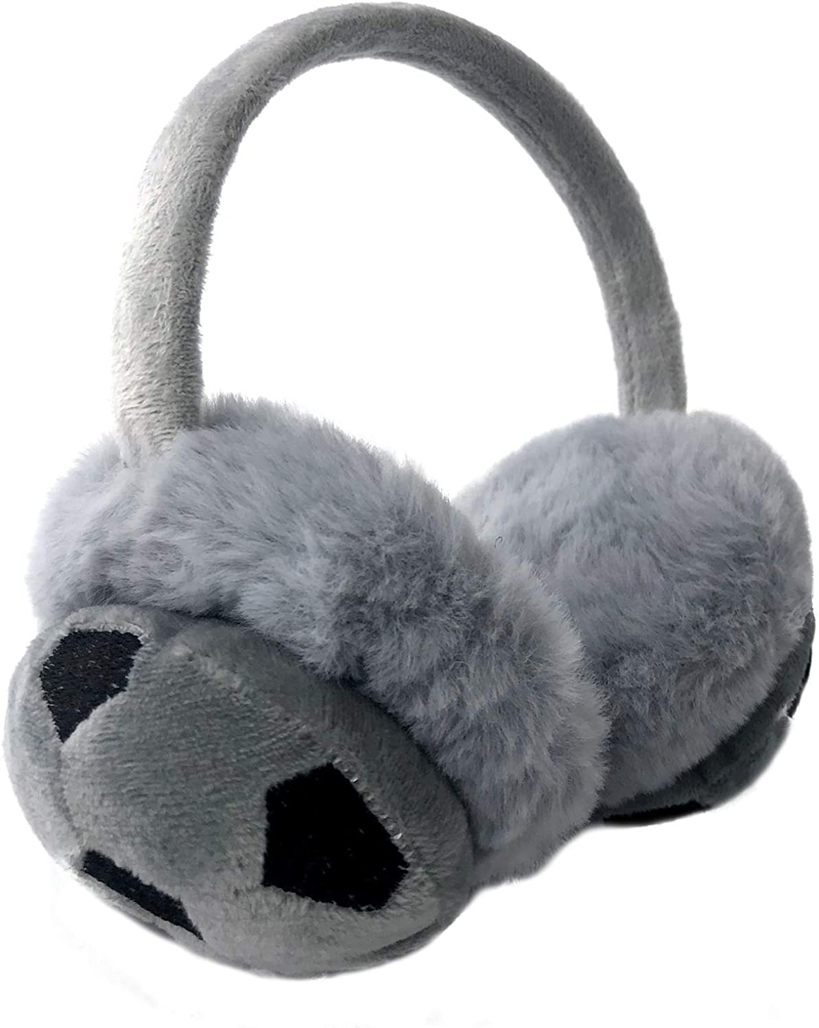 Kids Earmuffs Football Pattern Design Winter Outdoor Warm Ear Warmers Protection Birthday Xmas Gifts for Boys Girls