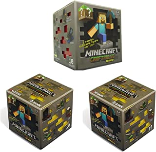"Official Minecraft Craftables Series 1 Figure 3-Pack Set Blind Pack ""3 Random Styles"""