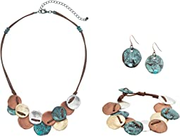 M&F Western - Multi Metal Disc Three-Piece Jewelry Set