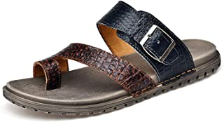Light Men Summer Slide Sandals Leather Shoes Fashion Breathable Casual Male Footwear