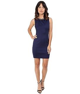 Embellished Sleeveless Scuba Dress JS5D7736