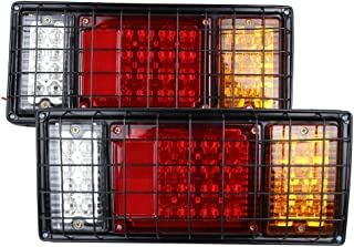 2PCS 40 LED Trailer Truck Tail Lights Bar High Brightness With 5-WIRE Connection for Negative Turn Signal Brake Light Running Light and Reverse Light Durable Tail Light With Iron Net protection