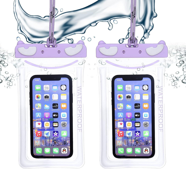 AZOOn Waterproof Mobile Phone case,Universal Waterproof Mobile Phone case(Purple)