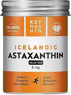 Icelandic Astaxanthin 8mg | All Natural Vegan Non-GMO Gluten Free Powerful Antioxidant Grown in Iceland | Supports Eye, Sk...