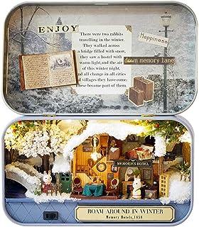 DBXMFZW DIY Dollhouse Kit Toys, Hand-Assembled Mini Box Theater Model, DIY Miniature Doll House Wooden Furniture, 1:24 Sca...