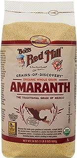Bob's Red Mill Organic Whole Grain Amaranth, 24 Oz (4 Pack)