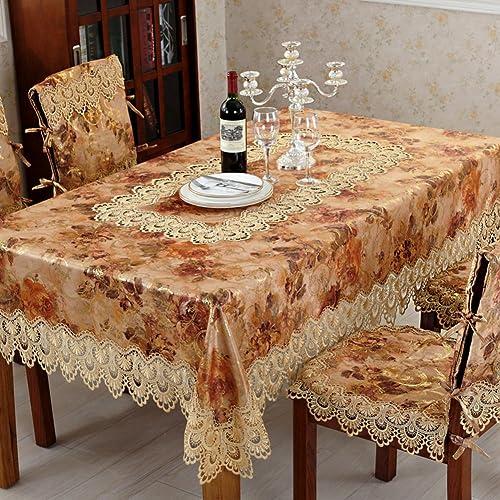 DE Lace runde tischdecke,tea tisch tuch handtuch european-style kühlschrank abdeckung-A 135x135cm(53x53inch)