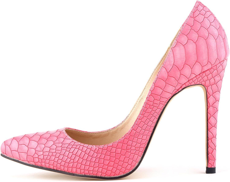 24XOmx55S99 Women's Nightclub Serpentine Stiletto High Heel Pumps