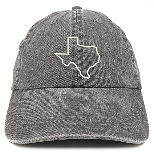 ec8d2399 Trendy Apparel Shop Texas State Outline Embroidered Washed Cotton  Adjustable Cap