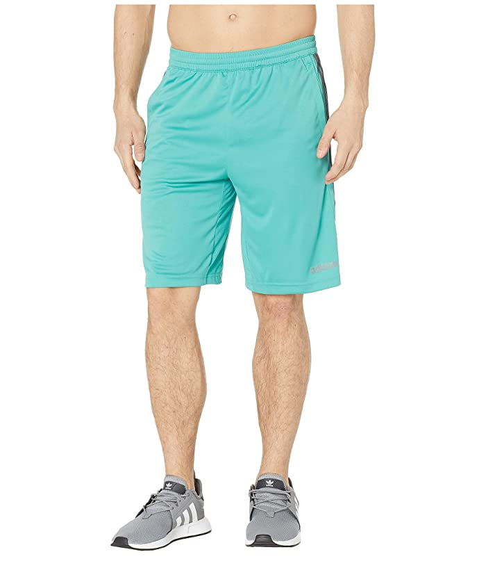 adidas D2M 3-Stripe Shorts (True Green/Grey Six) Men