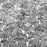 Werthers Stoffe Stoff Meterware Baumwolle Dschungel weiß
