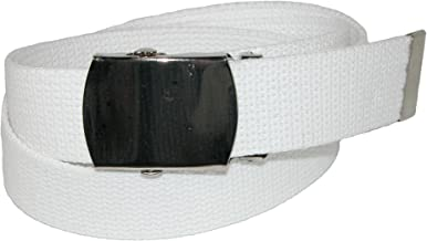 CTM Cotton Adjustable Belt with Nickel Buckle