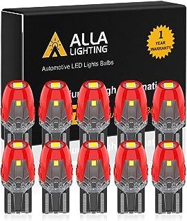 Alla Lighting W2.1x9.5d Base Mini T10 Wedge 2825 168 194 LED Bulbs SMD Super Bright 6000K White Interior Map/Dome/Trunk/Gl...