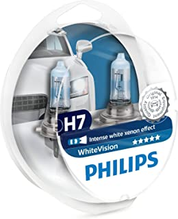 Philips H7 White Vision 3700K Halogen Bulbs Xenon Effect (Pair)