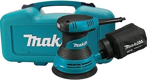 "Makita BO5030K 5"" Random Orbit Sander, with Tool Case, Teal"