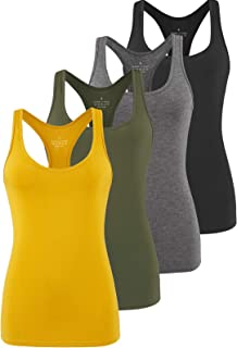 Athomely Workout Tank Tops for Women Athletic Yoga Top Racerback Running Tank Gym Exercise Shirt Sleeveless Activewear 4 Pack