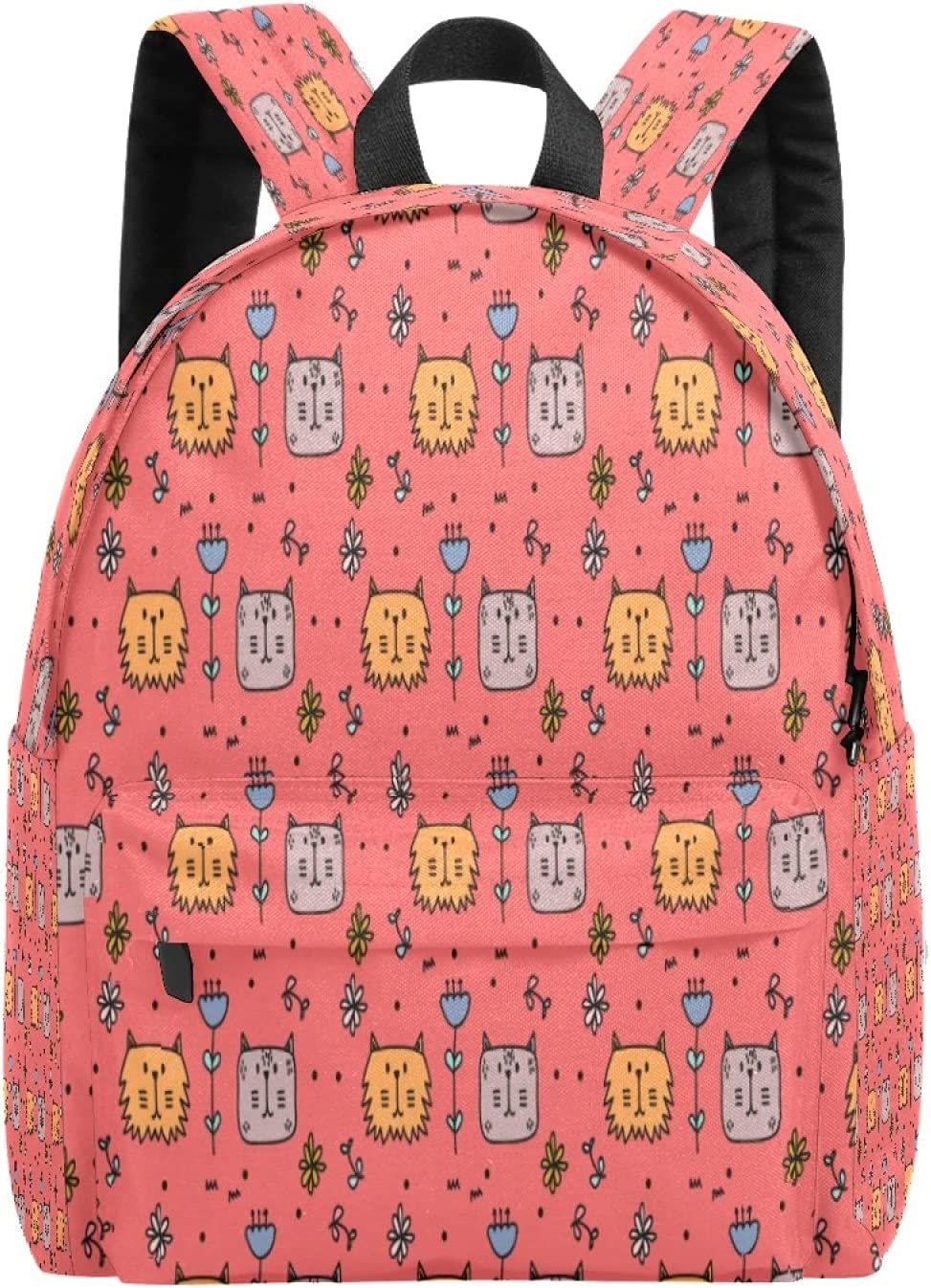 School Bag Backpack College Cats Max 87% OFF Casual Flowers Beauty products And L