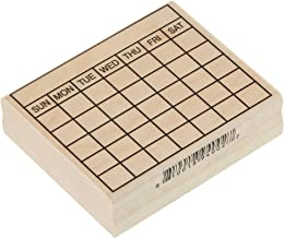 "Stamps by Impression ST 1299 Large Bullet Journal 5 Row Calendar Rubber Stamp 2¼"" x 2¾"""