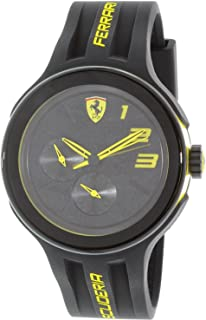 Ferrari Men's Scuderia 0830224 Black Silicone Quartz Watch