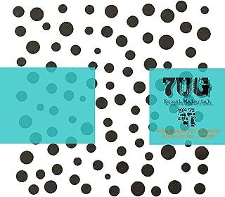 Rakel Punkte Muster selbstklebend Siebdruckschablone Dots A5 Schablone