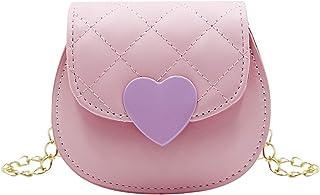 حقيبة يد صغيرة على شكل قلب للبنات الصغار حقيبة يد كروسبودي صغيرة الكتف للأطفال الصغار